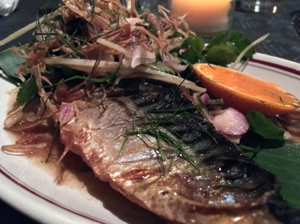 mackerel at farang highbury