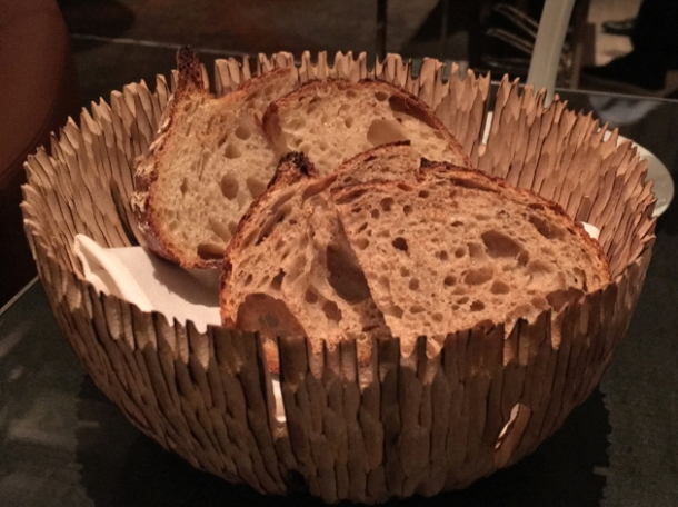 sourdough bread at le dame de pic london