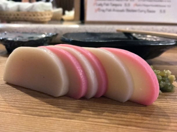 kamaboko fish cakes at jugemu