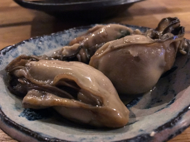oysters with sansho pepper at jugemu