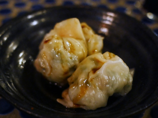 prawn dumplings at jugemu