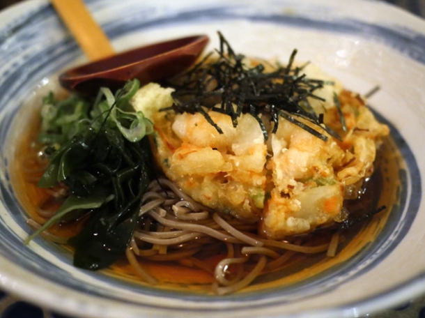prawn tempura soba at jugemu