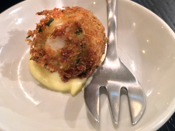 smoked haddock fishcake bar snack at rick stein barnes
