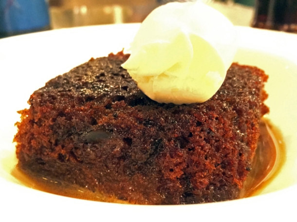 sticky toffee pudding at rick stein barnes