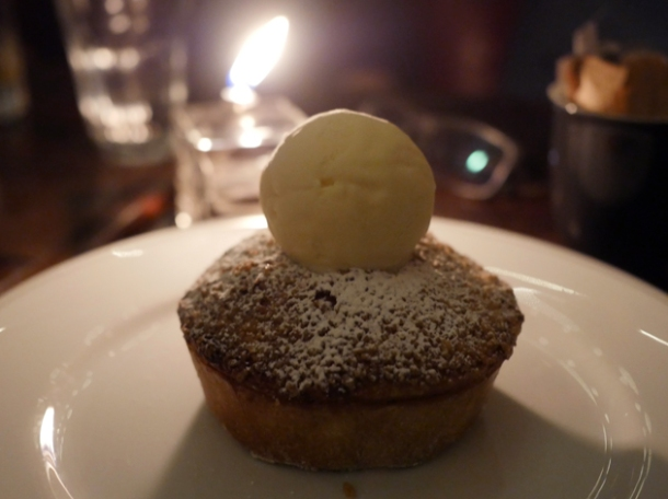 apple and raisin pie with cinnamon ice cream at holborn dining room