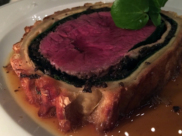 beef wellington at holborn dining room welly wednesday