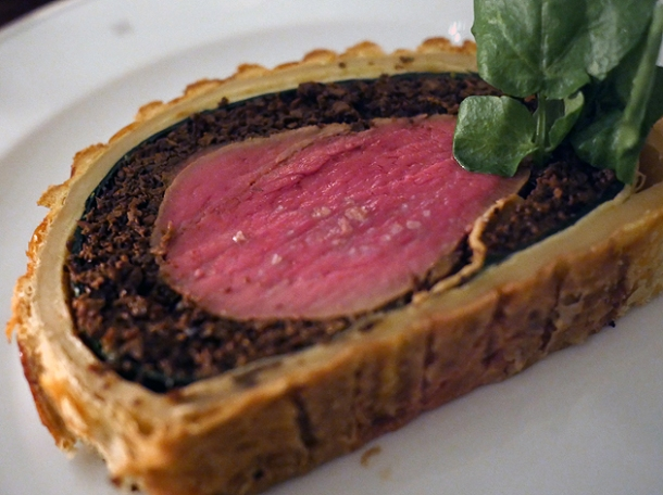 beef wellington wednesday special at holborn dining room