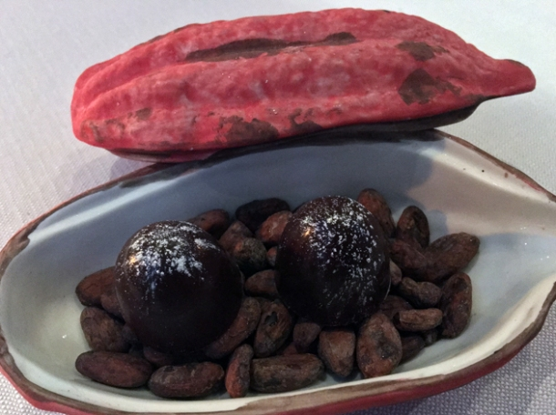 chocolate petit fours at claude bosi bibendum chelsea