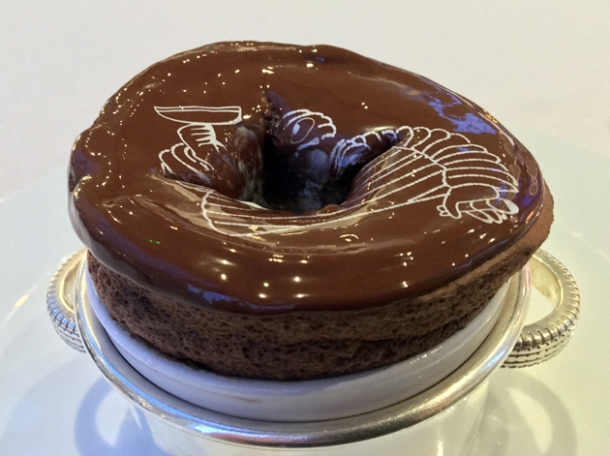 chocolate souffle at claude bosi bibendum