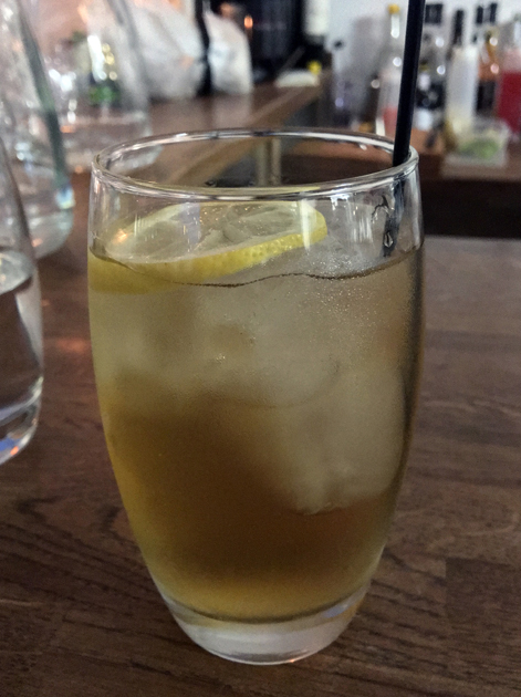 iced camomile tea at sparrow