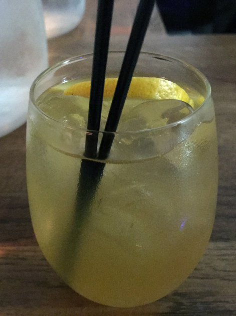 iced chamomile tea at sparrow