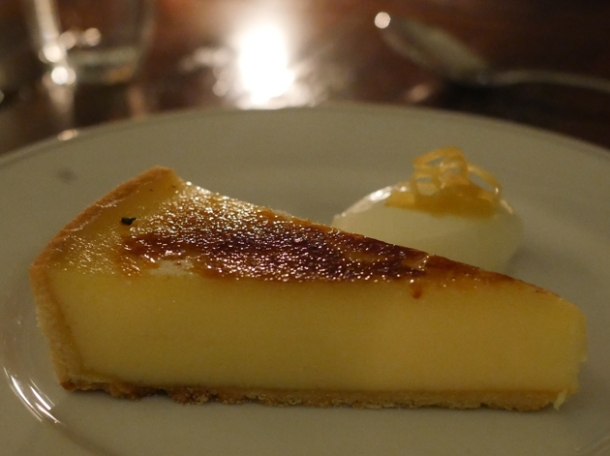 lemon tart at holborn dining room