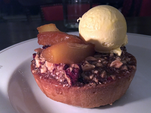 pear and pecan frangipani tart at holborn dining room