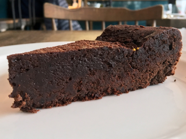 pressed chocolate cake at sparrow