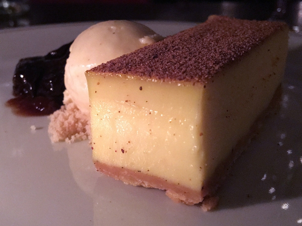 spiced custard tart at holborn dining room