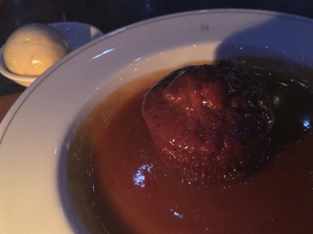 sticky toffee pudding at holborn dining room