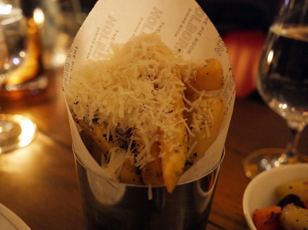 truffle parmesan fries at holborn dining room