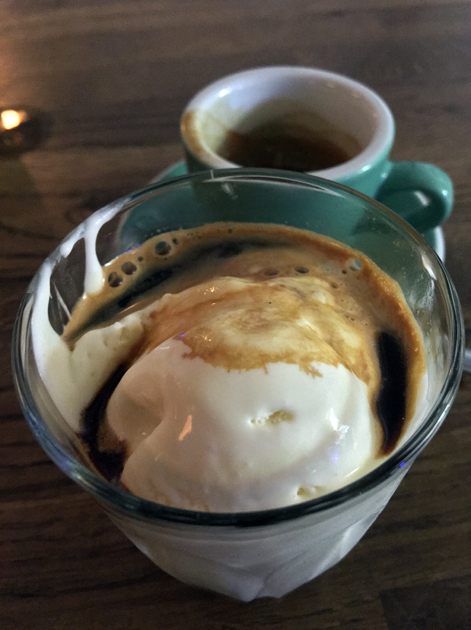 vanilla affogato at sparrow
