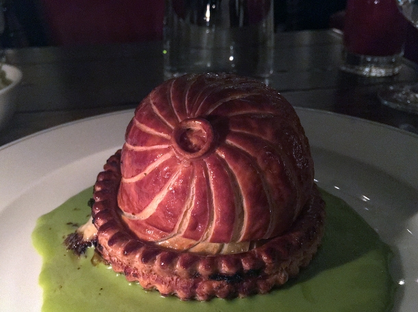 vegetarian pie at holborn dining room