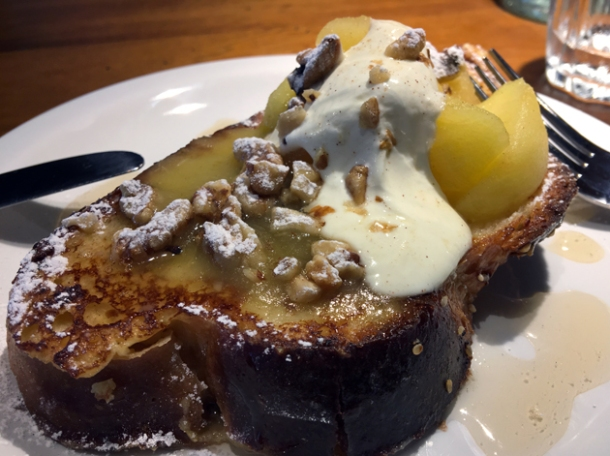 challah french toast at monty's deli