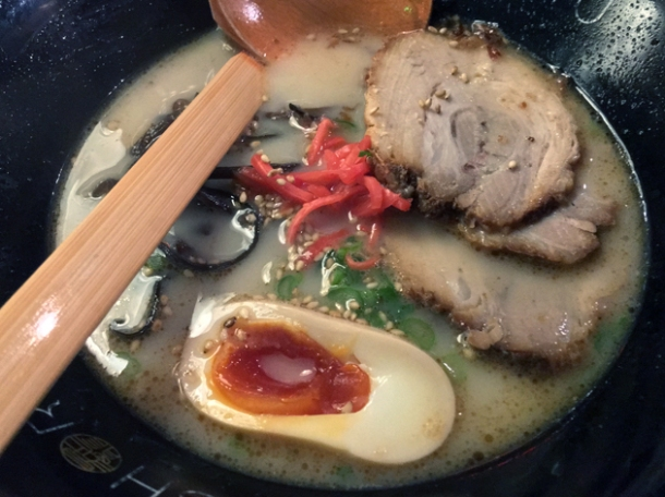 ganso tonkotsu ramen at shoryu kingly court