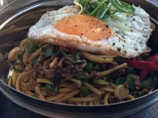 lamb noodles at madame d