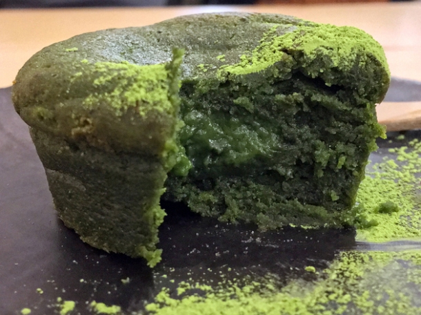 matcha chocolate cake at machi-ya