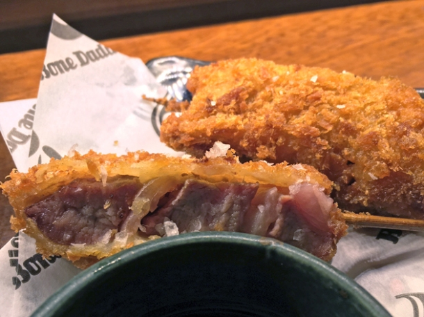 pork kushikatsu at bone daddies old street