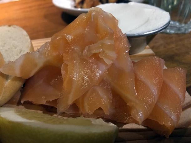 smoked salmon at monty's deli