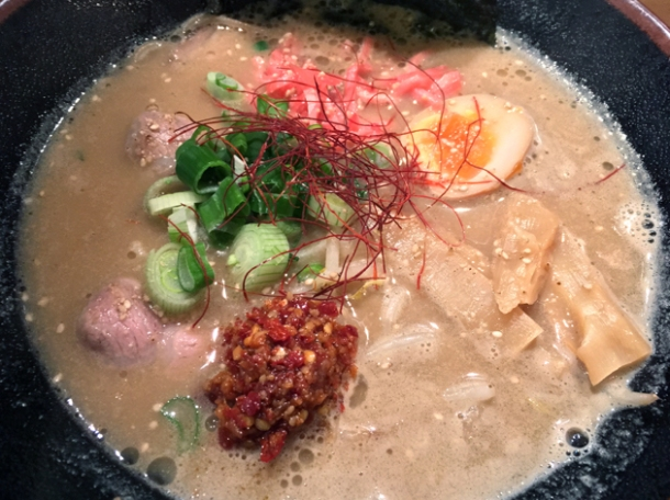 spicy tonkotsu ramen at okan ramen brixton