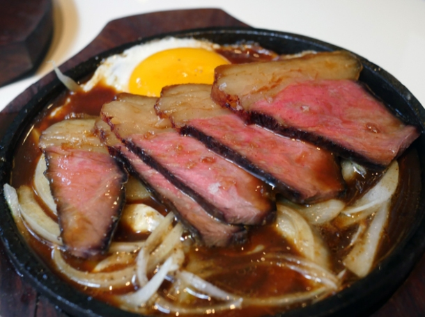 black pepper beef at xu london