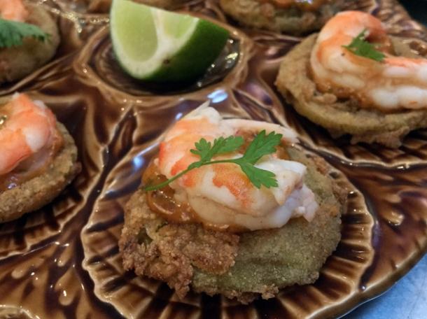 chilled shrimp remoulade at plaquemine lock