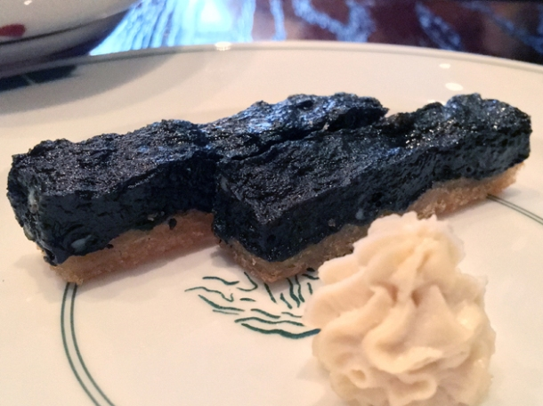 cuttlefish toast with roe at xu london