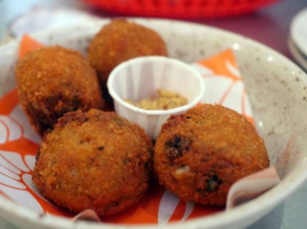 deep fried pork boudin balls at plaquemine lock