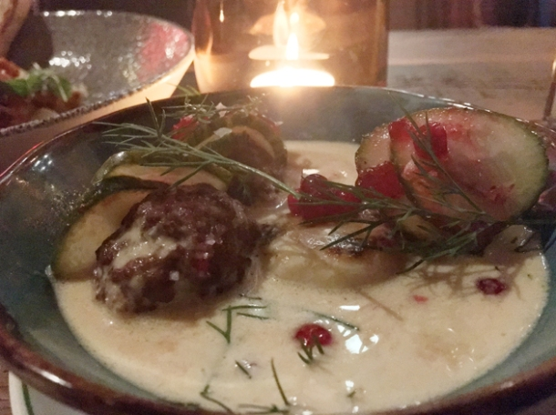 helga's meatballs at red rooster shoreditch