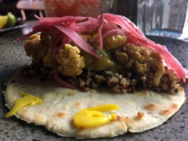 ital veg cauliflower tacos at tienda roosteria