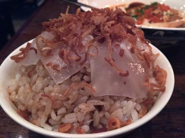lardo onion rice at xu