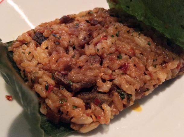 lotus beef fat rice at xu london