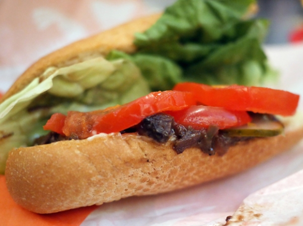 roast beef debris sandwich at plaquemine lock