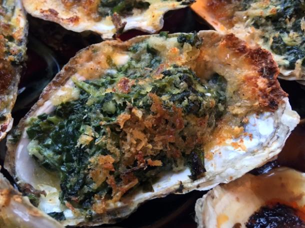 rockefeller oysters at plaquemine lock