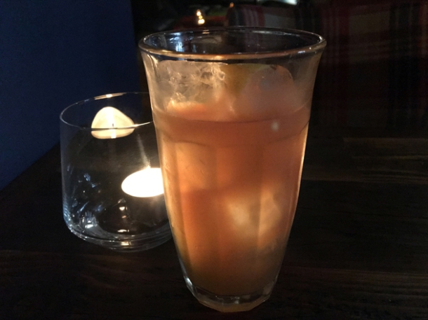 rooster juice iced tea at red rooster shoreditch
