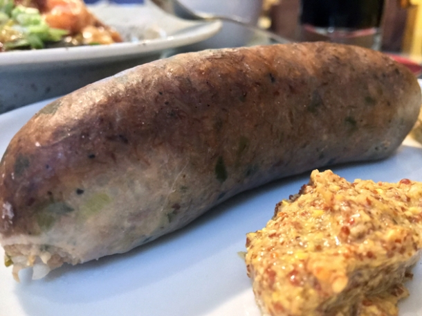 smoked boudin sausage at plaquemine lock