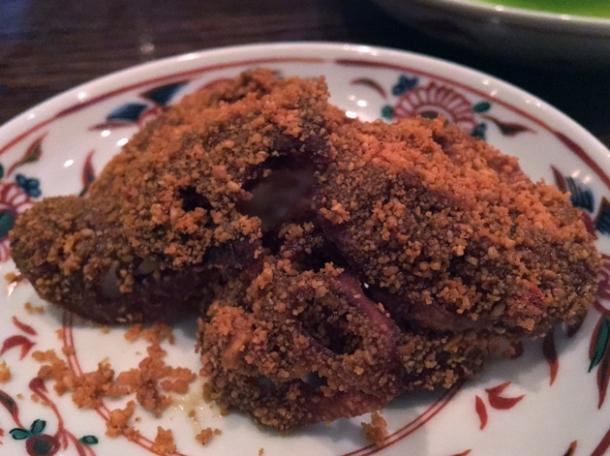 spiced taro crisps at xu
