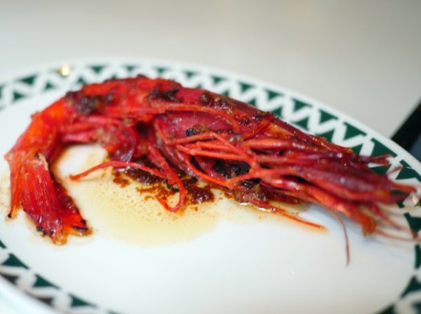 xo carabinero prawn at xu london