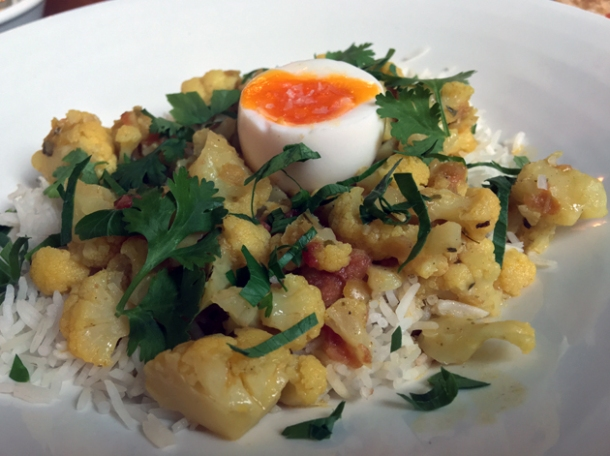 cauliflower kedgeree at the wigmore