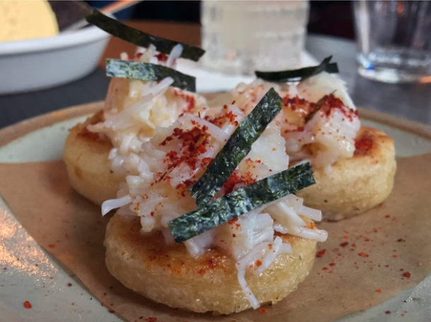 crab crumpets at the wigmore