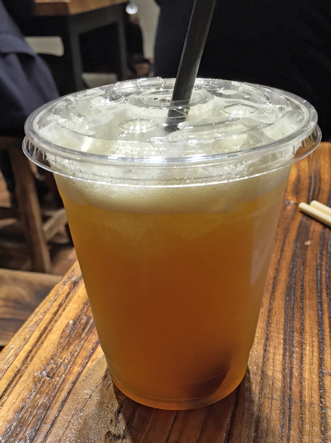 iced plum green tea at old tree daiwan bee