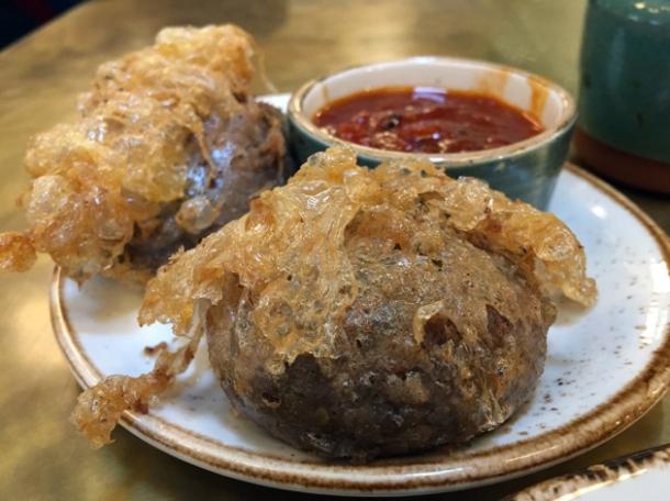 mutton kebabs at darjeeling express