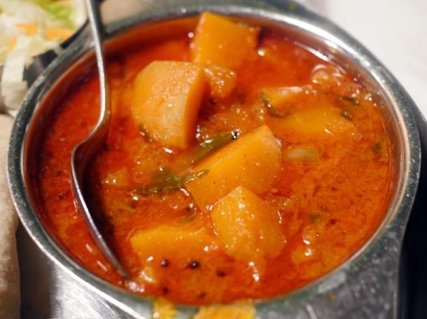 pumpkin curry at diwana bhel poori