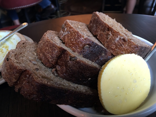 rye bread and butter at the wigmore